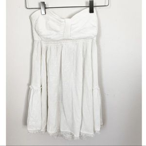 Free People Tube Top White Flowy Top XS